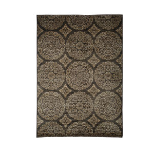 Sonoma Ana Gold and Chocolate Rectangular: 5 Ft 3 In x 7 Ft 6 In Rug