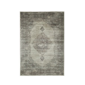 Sonoma Bryson Silver and Charcoal Rectangular: 5 Ft 3 In x 7 Ft 6 In Rug