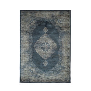 Sonoma Navy Blue and Silver Rectangular: 5 Ft 3 In x 7 Ft 6 In Rug