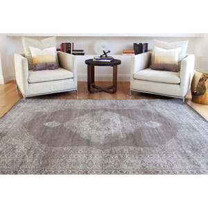 Sonoma Chocolate and Silver Rectangular: 5 Ft 3 In x 7 Ft 6 In Rug