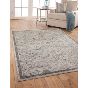 Sonoma Light Blue and Beige Rectangular: 5 Ft. 3 In. x 7 Ft. 6 In.  Rug