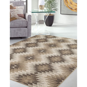Sonoma Brown and Gray Rectangular: 5 Ft. 3 In. x 7 Ft. 6 In.  Rug