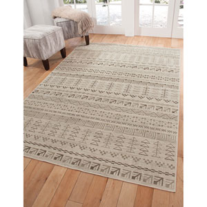 Sonoma Ivory and Brown Rectangular: 5 Ft. 3 In. x 7 Ft. 6 In.  Rug