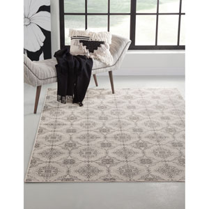 Sonoma Ivory and Grey Rectangular: 5 Ft. 3 In. x 7 Ft. 6 In.  Rug