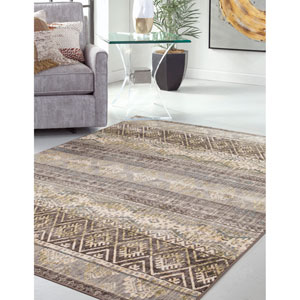 Sonoma Brown and Ivory Rectangular: 5 Ft. 3 In. x 7 Ft. 6 In.  Rug