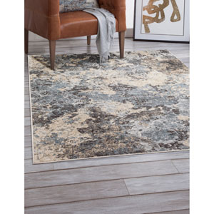 Sonoma Blue and Gray Rectangular: 5 Ft. 3 In. x 7 Ft. 6 In.  Rug