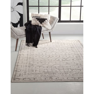Sonoma Gray and Ivory Rectangular: 5 Ft. 3 In. x 7 Ft. 6 In.  Rug