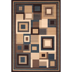 Terra Cityscape  Multicolor Rectangular: 5 Ft. 3-Inch x 7 Ft. 6-Inch  Rug