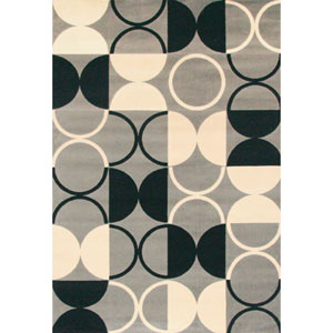 Terra Paloma  Grey and Ivory Rectangular: 5 Ft. 3-Inch x 7 Ft. 6-Inch  Rug