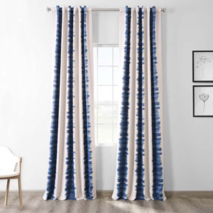Blue Flambe 50 x 96-Inch Blackout Curtain