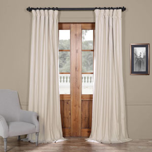 Hazelwood Beige 50 x 120-Inch Solid Cotton Blackout  Curtain
