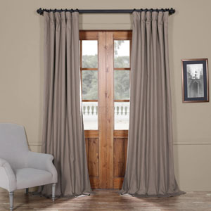 Millstone Gray 50 x 120-Inch Solid Cotton Blackout  Curtain