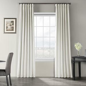 Mist Gray 50 x 96-Inch Vintage Textured Faux Dupioni Silk Curtain