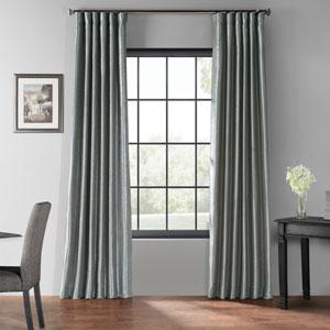 Storm Gray 50 x 108-Inch Blackout Vintage Textured Faux Dupioni Silk Curtain