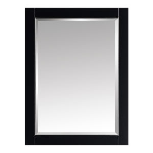 Black 24-Inch Mirror with Silver Trim