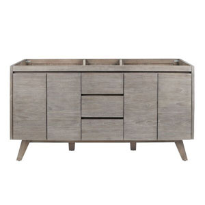 Coventry 60 inch Vanity Only in Gray Teak
