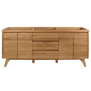 Coventry 72 inch Vanity Only in Natural Teak