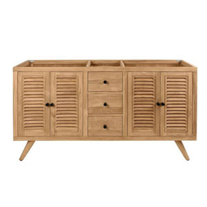 Harper 60 inch Vanity Only in Natural Teak