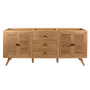 Harper 72 inch Vanity Only in Natural Teak