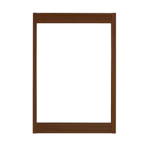 Taylor Brown Teak 24-Inch Mirror