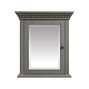 Hastings 24 inch Mirror Cabinet in French Gray finish