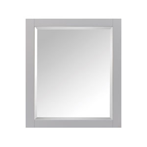 Modero Chilled Gray 28-Inch Mirror Cabinet
