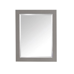 Chilled Gray 24-Inch Beveled Edge Rectangular Mirror