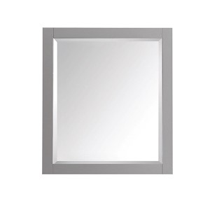 Chilled Gray 28-Inch Beveled Edge Rectangular Mirror