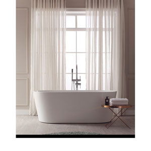 Aria White Acrylic Oval Bathtub