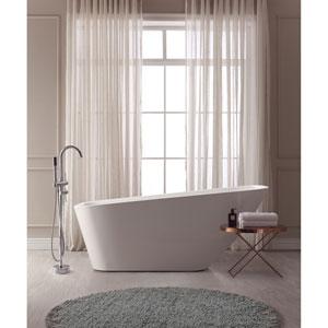 Rain White Acrylic Rectangular Bathtub
