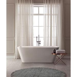 Piron White Acrylic Rectangular Bathtub