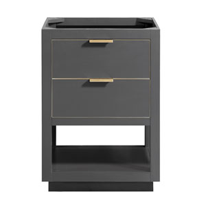 Allie 24-Inch Twilight Gray Matte Gold Vanity Only