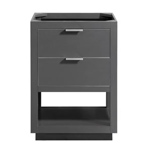 Allie 24-Inch Twilight Gray Brushed Silver Vanity Only