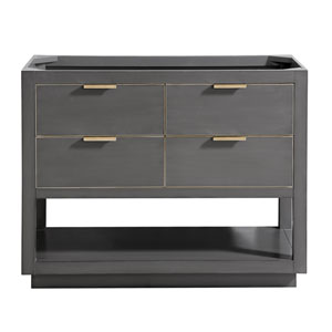 Allie 42-Inch Twilight Gray Matte Gold Vanity Only
