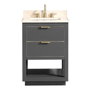 Allie 25-Inch Twiglight Gray Vanity Combo