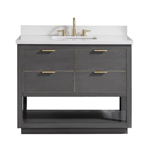 Allie 37-Inch Twilight Gray Vanity Combo