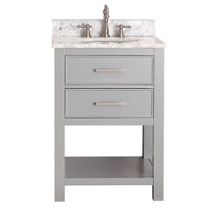 Brooks Chilled Gray 24-Inch Vanity Only
