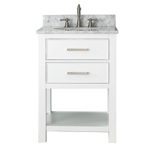 Brooks White 24-Inch Vanity Only