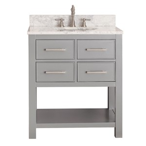 Brooks Chilled Gray 30-Inch Vanity Only