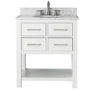 Brooks White 30-Inch Vanity Only
