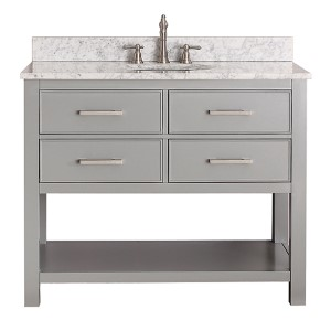 Brooks Chilled Gray 42-Inch Vanity Only
