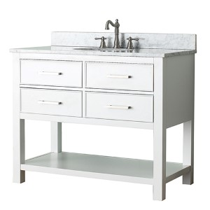 Brooks White 42-Inch Vanity Only