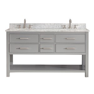Brooks Chilled Gray 60-Inch Vanity Only
