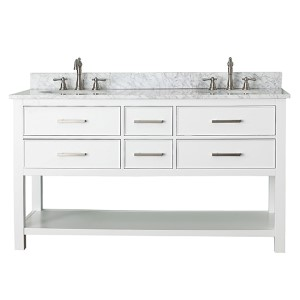 Brooks White 60-Inch Vanity Only