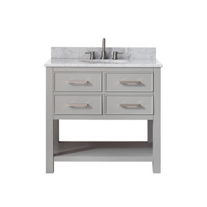 Brooks Chilled Gray 37-Inch Vanity Combo