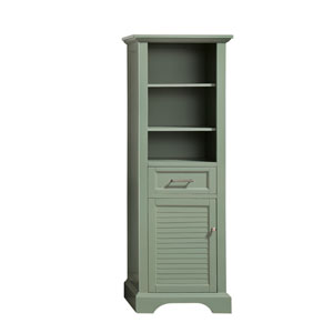 Colton 22-Inch Basil Green Linen Tower
