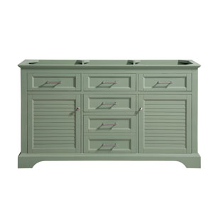Colton Basil Green 60-Inch Vanity Only