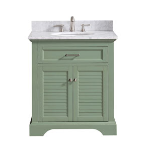 Colton Basil Green 31-Inch Vanity Combo