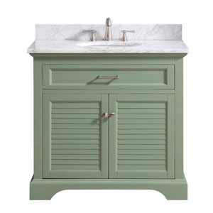 Colton Basil Green 37-Inch Vanity Combo
