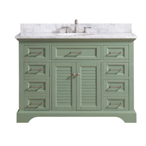 Colton Basil Green 49-Inch Vanity Combo